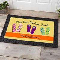 Wipe Your Flip Flops Here 20-Inch x 35-Inch Door Mat