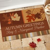Happy Autumn 18-Inch x 27-Inch Door Mat