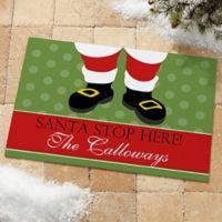 Santa Stop Here! 18-Inch x 27-Inch Door Mat