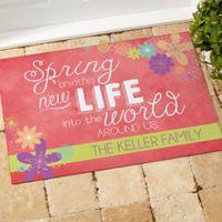 Spring Flowers 18-Inch x 27-Inch Door Mat