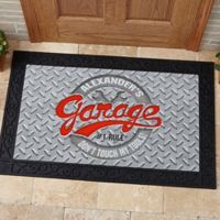 His Garage Rules 20-Inch x 35-Inch Door Mat