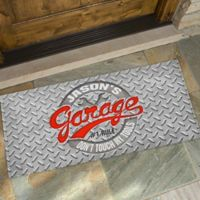 His Garage Rules 24-Inch x 48-Inch Door Mat