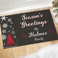 Wintertime Wishes 18-Inch x 27-Inch Door Mat