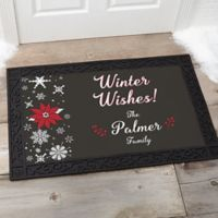 Wintertime Wishes 20-Inch x 35-Inch Door Mat