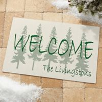 Evergreen Welcome 18-Inch x 27-Inch Door Mat