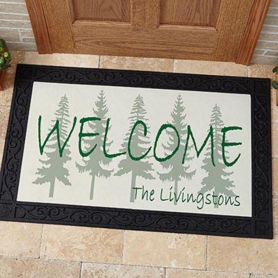 Exceptional Evergreen Welcome 20 Inch X 35 Inch Door Mat