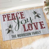 Peace, Joy, Love 18-Inch x 27-Inch Door Mat