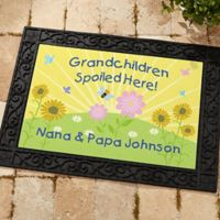 Spoiled Grandchildren 18-Inch x 27-Inch Door Mat