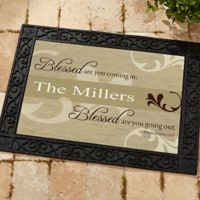 Blessed Are You 18-Inch x 27-Inch Door Mat