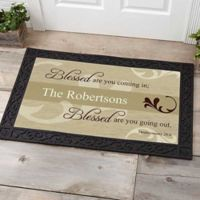 Blessed Are You 20-Inch x 35-Inch Door Mat