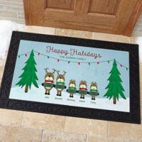Reindeer Family Character 20-Inch x 35-Inch Door Mat