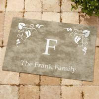 Scroll Leaf Monogram 18-Inch x 27-Inch Door Mat