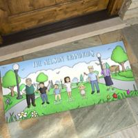 Our Family Characters 24-Inch x 48-Inch Door Mat