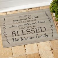 May You Be Blessed 18-Inch x 27-Inch Door Mat