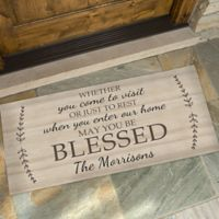 May You Be Blessed 24-Inch x 48-Inch Door Mat