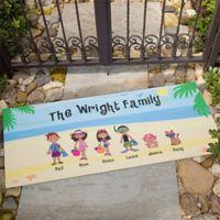 Summer Family Character 24-Inch x 48-Inch Door Mat