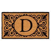 """16-Inch x 24-Inch Monogram """"D"""" Coir Door Mat Insert"""