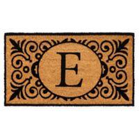 "16-Inch x 24-Inch Monogram ""E"" Coir Door Mat Insert"
