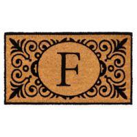 """16-Inch x 24-Inch Monogram """"F"""" Coir Door Mat Insert"""