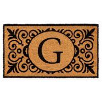 """16-Inch x 24-Inch Monogram """"G"""" Coir Door Mat Insert"""
