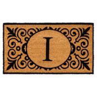 """16-Inch x 24-Inch Monogram """"I"""" Coir Door Mat Insert"""