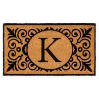 """16-Inch x 24-Inch Monogram """"K"""" Coir Door Mat Insert"""