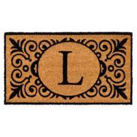 """16-Inch x 24-Inch Monogram """"L"""" Coir Door Mat Insert"""