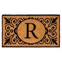 """16-Inch x 24-Inch Monogram """"R"""" Coir Door Mat Insert"""