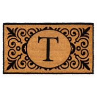"""16-Inch x 24-Inch Monogram """"T"""" Coir Door Mat Insert"""