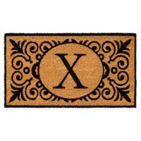 """16-Inch x 24-Inch Monogram """"X"""" Coir Door Mat Insert"""