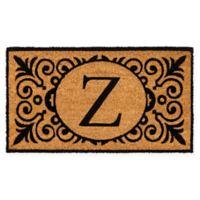 """16-Inch x 24-Inch Monogram """"Z"""" Coir Door Mat Insert"""