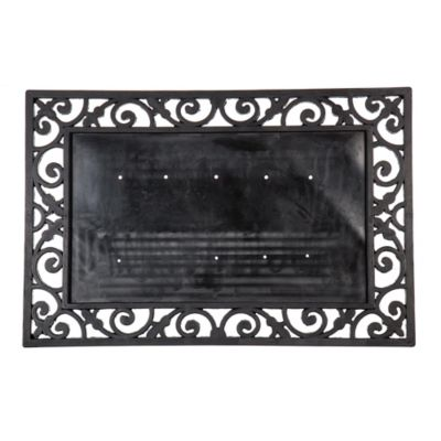24 inch x 36 inch rubber door mat frame in black - Wrought Iron Picture Frames