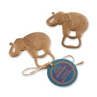 Kate Aspen® 12-Pack Lucky Golden Elephant Bottle Openers