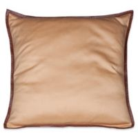 Bespoke Cashmere Square Throw Pillow in Camel