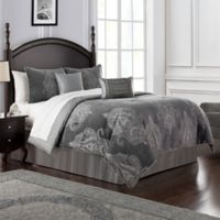 Waterford® Ryan Reversible Queen Comforter Set in Platinum