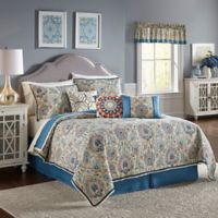 Waverly® Castleford Reversible Twin Quilt Set in Blue