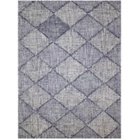 Amer Amanya Checkered 2-Foot 3-Inch Accent Rug in Navy