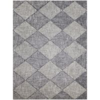 Amer Amanya Checkered 2-Foot x 3-Foot Accent Rug in Grey