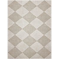 Amer Amanya Checkered 2-Foot x 3-Foot Accent Rug in Ivory
