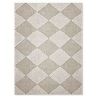 Amer Amanya Checkered 5-Foot x 8-Foot Area Rug in Ivory