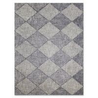 Amer Amanya Checkered 5-Foot x 8-Foot Area Rug in Grey