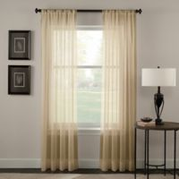 Trinity Crinkle Voile 144-Inch Rod Pocket Window Curtain Panel in Honey