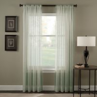 Trinity Crinkle Voile 132-Inch Rod Pocket Window Curtain Panel in Sage
