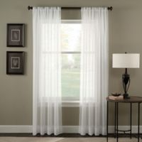 Trinity Crinkle Voile 132-Inch Rod Pocket Window Curtain Panel in Winter