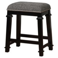 Linon Home Kyley Tweed Upholstered Counter Stool