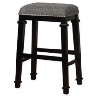 Linon Home Kyley Tweed Upholstered Bar Stool