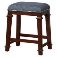 Linon Home Kyley Denim Upholstered Counter Stool