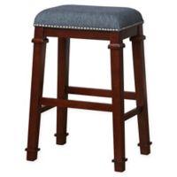 Linon Home Kyley Denim Upholstered Bar Stool
