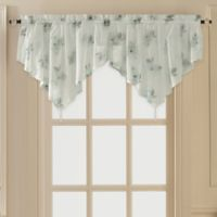Water Lily Scroll Ascot Window Valance in Blue