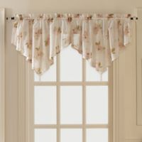 Water Lily Scroll Ascot Window Valance in Pink